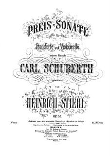 Sonate für Cello und Klavier, Op.37: Sonate für Cello und Klavier by Heinrich Stiehl