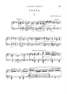 Suite für Klavier, Op.21: Suite für Klavier by Josef Suk