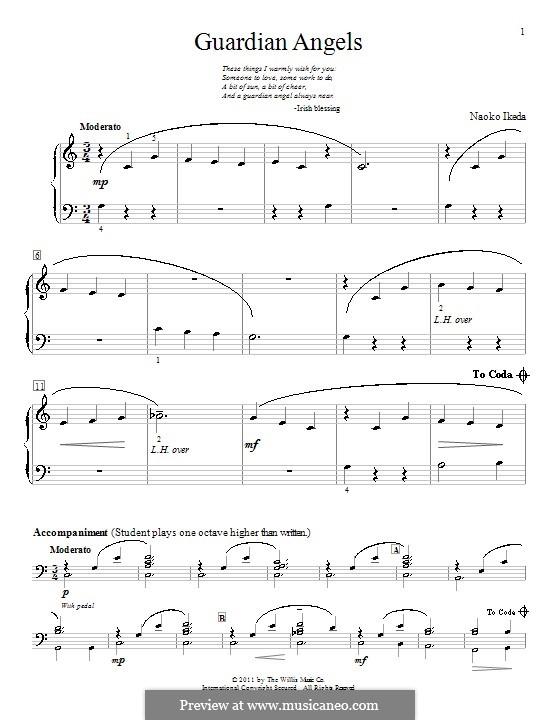 Guardian Angels: Für Klavier by Naoko Ikeda