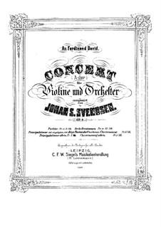 Violinkonzert in A-Dur, Op.6: Version für Violine und Klavier – Partitur by Johan Svendsen