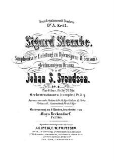 Sigurd Slembe. Sinfonische Einleitung zu gleichnamigem Drama von Bjornson, Op.8: Sigurd Slembe. Sinfonische Einleitung zu gleichnamigem Drama von Bjornson by Johan Svendsen