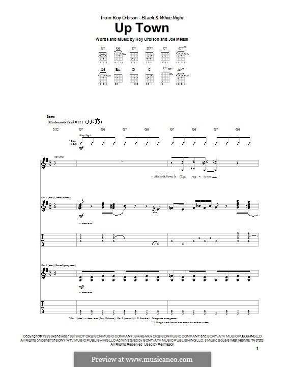 Up Town: Für Gitarre mit Tab by Joe Melson