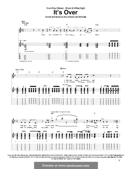 It's Over: Für Gitarre mit Tabulatur by Bill Dees