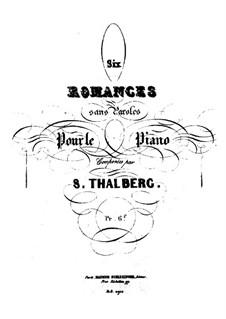 Sechs Romanzen ohne Worte: Vollsammlung by Sigismond Thalberg