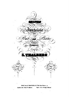 Grosse Fantasie, Op.22: Große Fantasie by Sigismond Thalberg