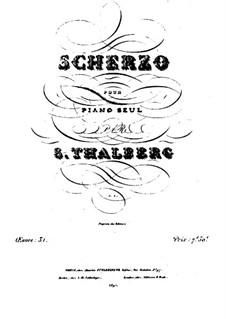 Scherzo in cis-Moll, Op.31: Scherzo in cis-Moll by Sigismond Thalberg