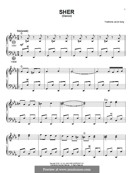 Sher (Dance): Für Akkordeon by folklore