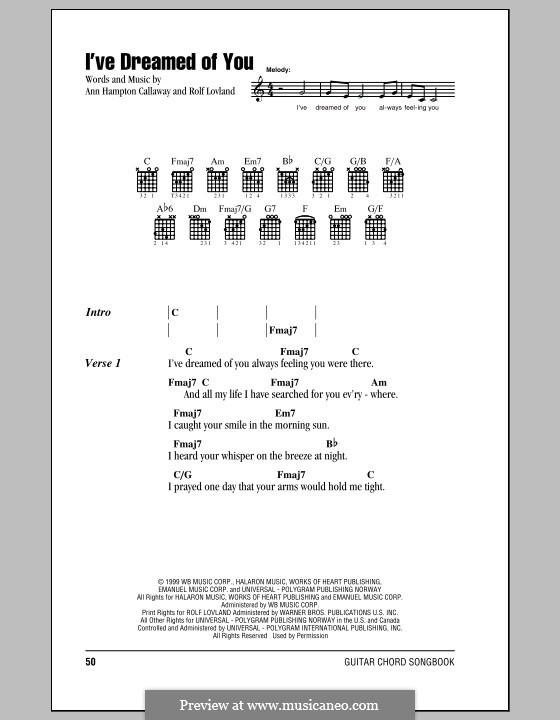 I've Dreamed of You (Barbra Streisand): Text und Akkorde by Ann Hampton Callaway, Rolf Løvland