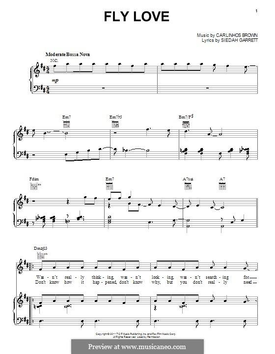 Fly Love (Jamie Foxx): Für Stimme und Klavier (oder Gitarre) by Carlinhos Brown, Siedah Garrett