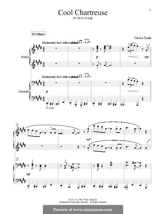 Cool Chartreuse: Für Klavier, vierhändig by Naoko Ikeda