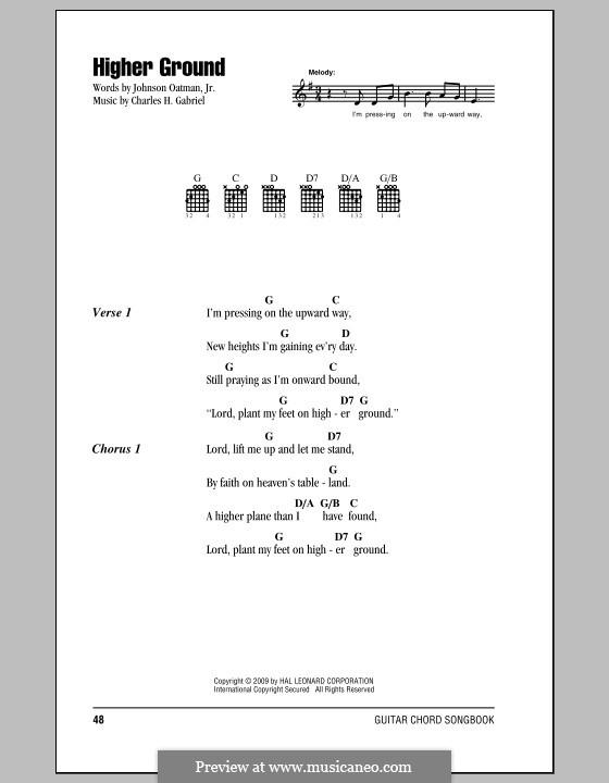 Higher Ground: Text und Akkorde by Charles Hutchinson Gabriel