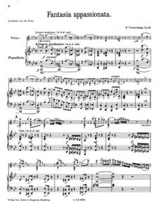 Fantasie Appassionata, Op.35: Vollpartitur by Henri Vieuxtemps