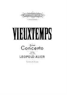 Violinkonzert Nr.3, Op.25: Violinkonzert Nr.3 by Henri Vieuxtemps