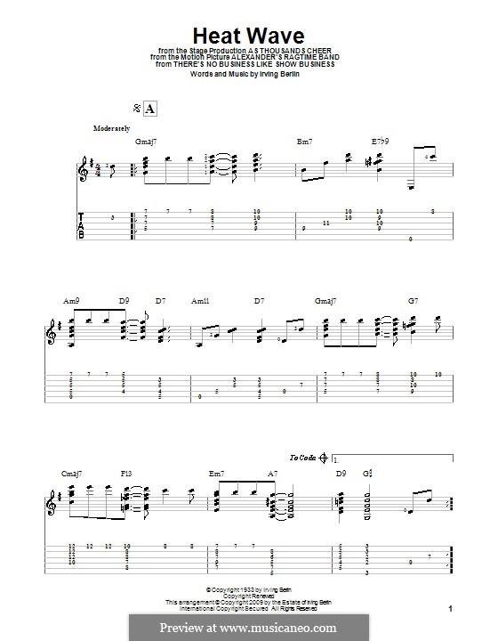Heat Wave: Für Gitarre mit Tabulatur by Irving Berlin