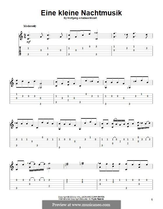 Allegro: Für Gitarre by Wolfgang Amadeus Mozart