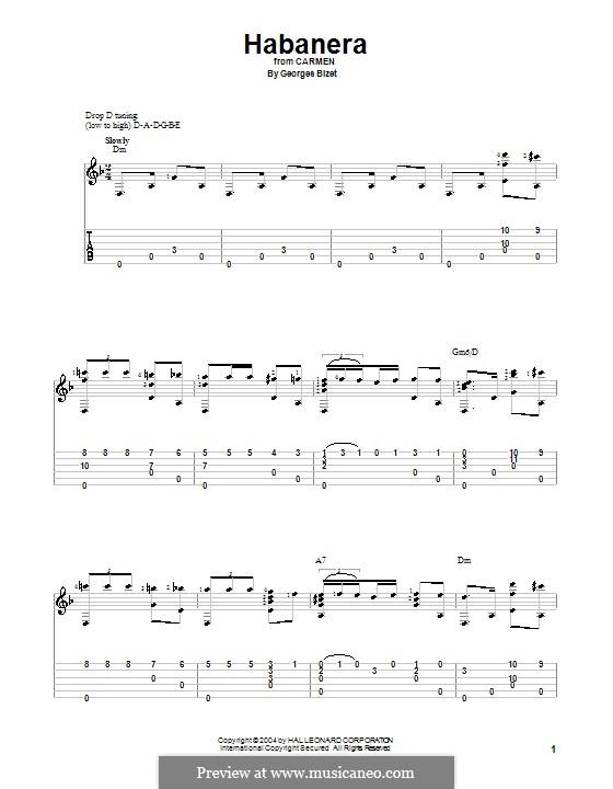 Habanera: Für Gitarre by Georges Bizet