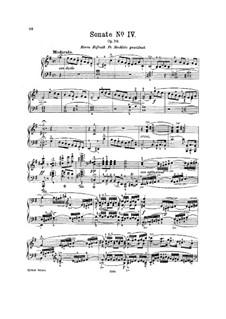 Sonate für Klavier Nr.4 in e-Moll, J. 287 Op.70: Für einen Interpreten by Carl Maria von Weber