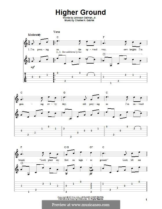 Higher Ground: Für Gitarre mit Tab by Charles Hutchinson Gabriel