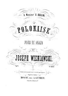 Polonäse in As-dur, Op.21: Polonäse in As-dur by Józef Wieniawski