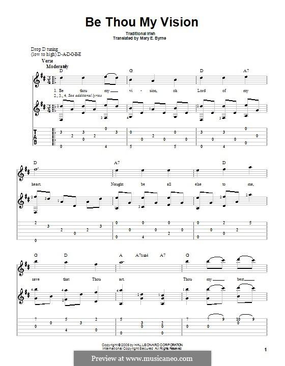 Be Thou My Vision: Für Gitarre mit Tabulatur by folklore