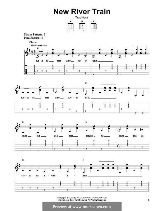 New River Train: Für Gitarre mit Tabulatur by folklore