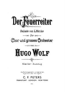 Der Feuerreiter: Der Feuerreiter by Hugo Wolf