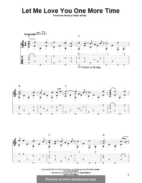 Let Me Love You One More Time: Für Gitarre mit Tab by Ralph Stanley