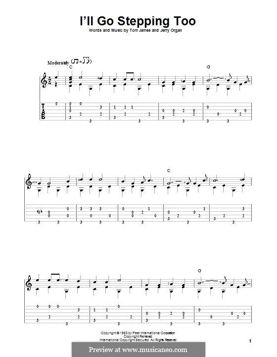 I'll Go Stepping Too: Für Gitarre mit Tab by Jerry Organ, Tommy Lee James
