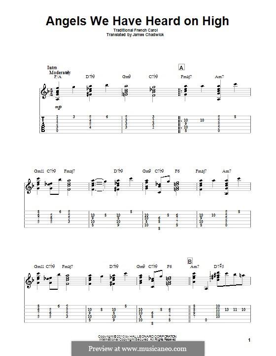 Angels We Have Heard on High: Für Gitarre by folklore