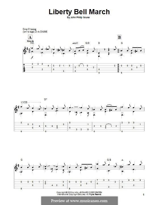 Liberty Bell March: Für Gitarre by John Philip Sousa