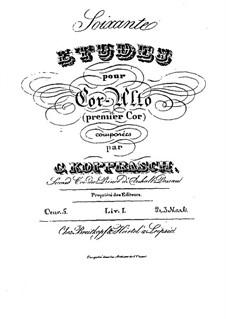 Soixante etudes pour cor-alto, Op.5: Livre I by Georg Kopprasch