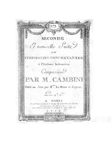 Symphonies Concertantes: Second Suite, No.3 for flute and orchestra by Giuseppe Maria Cambini