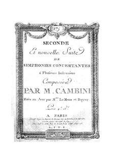 Symphonies Concertantes: Second Suite, No.5 for two violins and orchestra by Giuseppe Maria Cambini