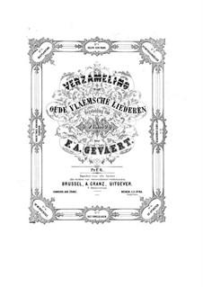 Sammlung der alten flämischen Lieder: Sammlung der alten flämischen Lieder by François-Auguste Gevaert