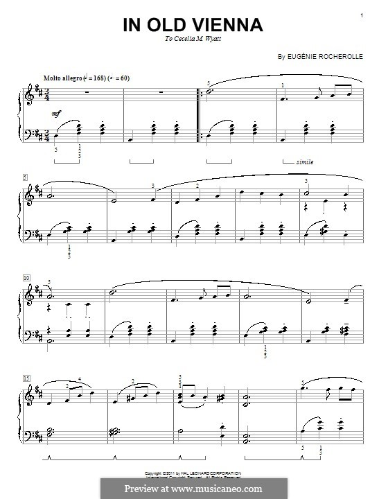 In Old Vienna: Für Klavier by Eugénie Rocherolle