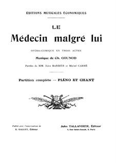 Arzt wider Willen: Klavierauszug mit Singstimmen by Charles Gounod