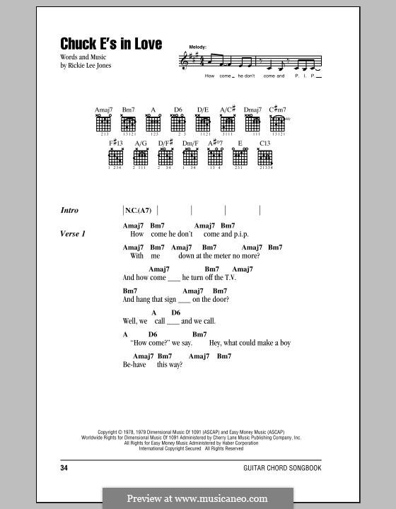 Chuck E's in Love: Texte und Akkorde by Rickie Lee Jones