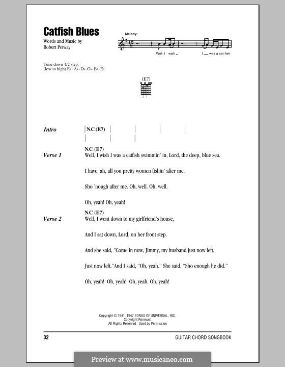 Catfish Blues: Texte und Akkorde by Robert Petway