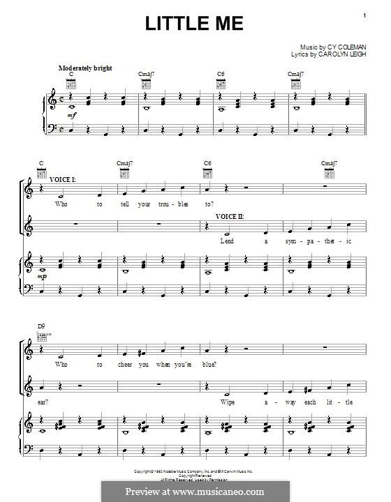 Little Me: Für Stimme und Klavier (oder Gitarre) by Cy Coleman