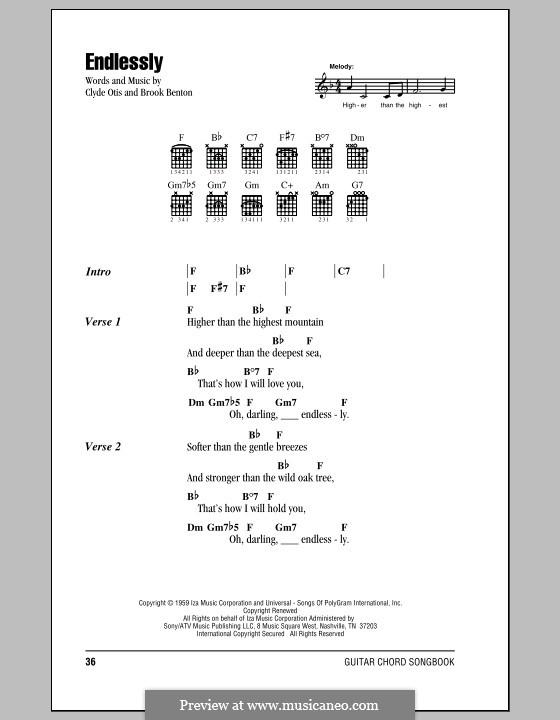 Endlessly: Texte und Akkorde by Clyde Otis