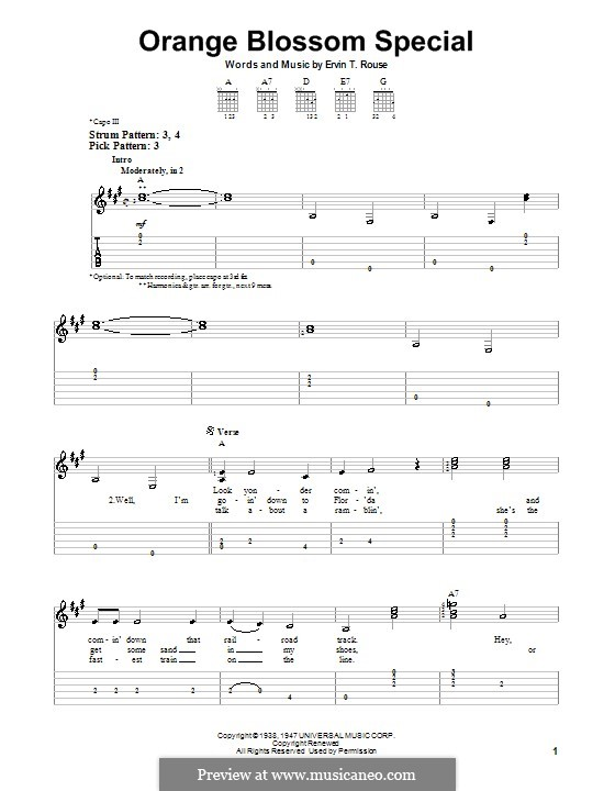 Orange Blossom Special: Für Gitarre (Sehr leichte Fassung) by Ervin T. Rouse