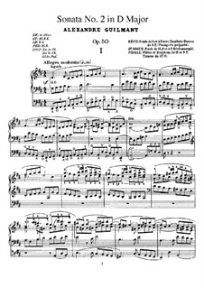 Orgelsonate Nr.2 in D-Dur, Op.50: Orgelsonate Nr.2 in D-Dur by Alexandre Guilmant