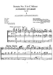 Orgelsonate Nr.5 in c-Moll, Op.80: Orgelsonate Nr.5 in c-Moll by Alexandre Guilmant