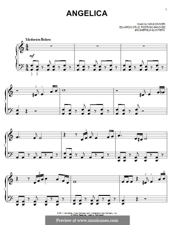 Angelica: Für Klavier, leicht by Eduardo Cruz, Gabriela Quintero, Rodrigo Sánchez