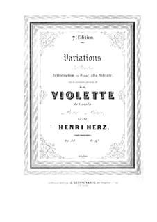 Variationen Brillante über Themen aus 'La violette' von Carafa, Op.48: Für Klavier by Henri Herz