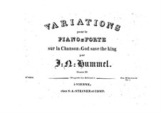 Variationen über 'God save the King', Op.10: Variationen über 'God save the King' by Johann Nepomuk Hummel