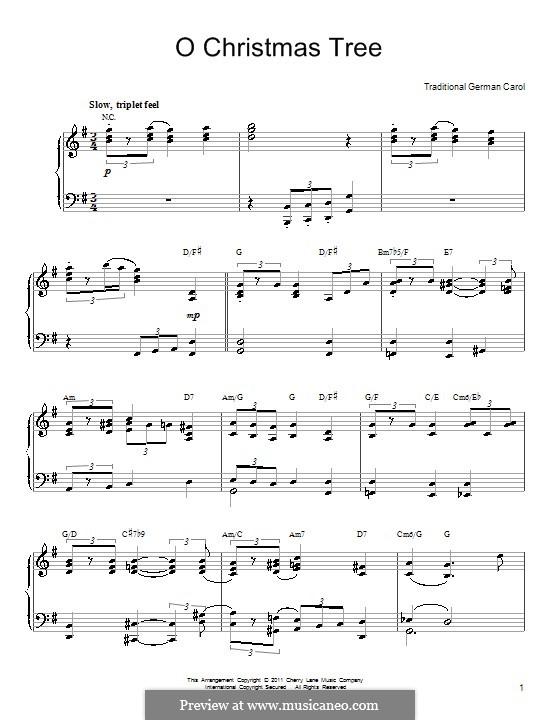 O Tannenbaum, für Klavier: Noten von hoher Qualität by folklore