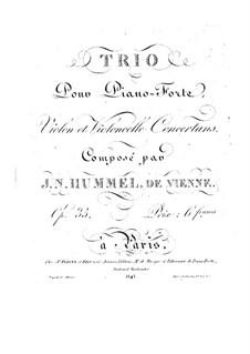 Klaviertrio Nr.4 in G-Dur, Op.35: Klaviertrio Nr.4 in G-Dur by Johann Nepomuk Hummel