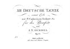 Zwölf Deutsche Tänze, Op.44: Zwölf Deutsche Tänze by Johann Nepomuk Hummel