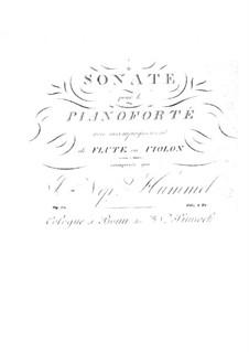 Sonate für Klavier und Flöte (oder Violine), Op.50: Partitur, Solostimme by Johann Nepomuk Hummel
